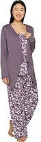 Carole Hochman Floral Vine Cotton Jersey 3-Piece Pajama Set