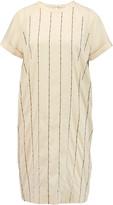 Brunello Cucinelli Embroidered stretch-silk dress