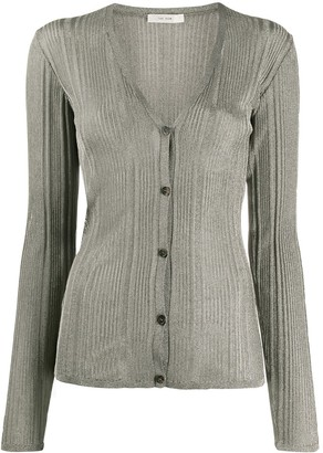 The Row Ribbed Fine Knit Cardigan