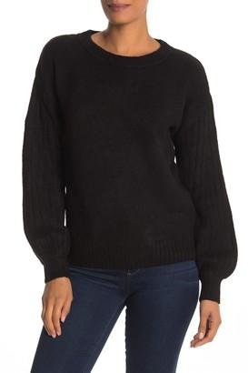 Max Studio Cozy Ribbed Puff Sleeve Sweater