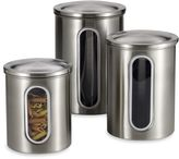 Polder Brushed Stainless Steel Window Canisters (Set of 3)