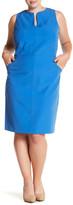 Mynt 1792 Sleeveless Seamed Sheath Dress (Plus Size)