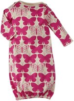 Winter Water Factory Butterflies Baby Gown (Baby) - Magenta-NB