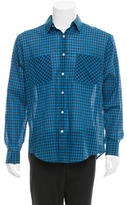 Theory Woven Gingham Shirt w/ Tags