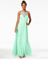 B. Darlin Juniors' Crystal-Embellished Illusion Gown, A Macy's Exclusive Style