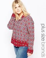 Brave Soul Plus Shirt In Jewel Print