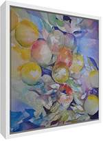 Feel Good Art Print Brightly Coloured Artist Val Johnson from English Countryside 25/x 25/x 4/cm Small