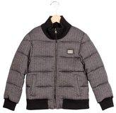 Dolce & Gabbana Boys' Herringbone Puffer Jacket