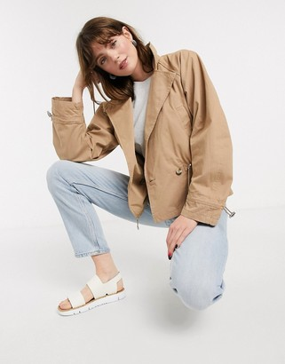 InWear Mona cropped mac jacket in sand