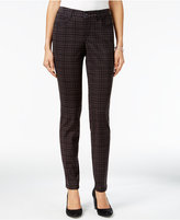 Style&Co. Style & Co Curvy-Fit Menahan Plaid Skinny Jeans, Only at Macy's