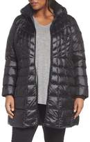 Bernardo Plus Size Women's Quilted Jacket With Down & Primaloft Fill