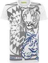 Versace Jeans All Over Tiger Print Crew Neck T-shirt