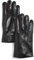 Paul Smith Colored Inserts Leather Gloves