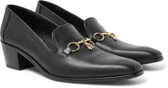 Needles Embellished Leather Loafers - Men - Black