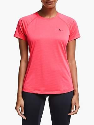 Ronhill Momentum Short Sleeve Running Top, Pink