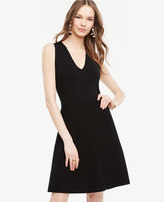 Ann Taylor Tall Crossover Back Flare Dress