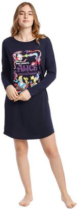 Disney Princesses Knit Long Sleeve Nightie Navy