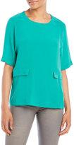Alysi Silk Pocket Blouse