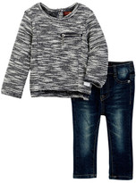 7 For All Mankind Boxy Top & Skinny Pant Set (Baby Girls)
