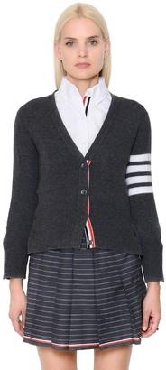 Thom Browne Intarsia Stripes Cashmere Knit Cardigan