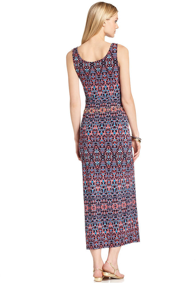 Anne Klein Dress, Sleeveless Printed Maxi