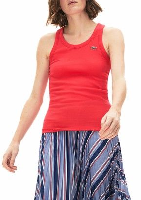 Lacoste Women's Ribbed Tank Top