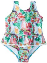 Snapper Rock Girls' Tropical Birds Skirted One Piece Swimsuit (324mos) - 8155097