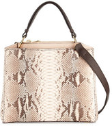 VBH Seven Python & Vitello Tote Bag, Cream/Brown/Natural