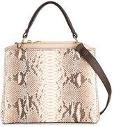 VBH Seven Python & Vitello Tote Bag, Cream/Brown/Natural