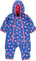 Mini Rodini Double Zip Hooded Heart Snowsuit