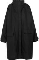 Balenciaga Oversized Canvas Raincoat - Black