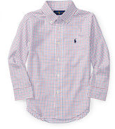 Ralph Lauren Check Poplin Dress Shirt, Size 2-4