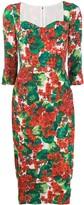 Dolce & Gabbana Portofino-print midi dress