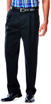 Haggar Work To Weekend Khakis - Classic Fit, Pleated Front, Hidden Expandable Waistband