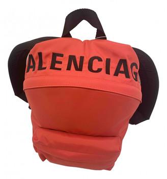Balenciaga Red Cloth Backpacks