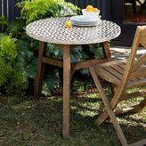west elm Mosaic Tiled Bistro Table - Bronze Hex Top + Driftwood Base