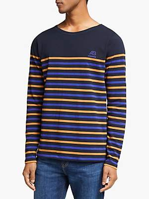 Scotch & Soda Multi Breton Stripe Long Sleeve T-Shirt, Comba A