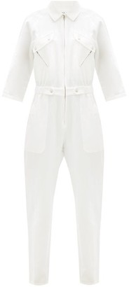 Apiece Apart Amelia Zipped Linen Jumpsuit - Cream