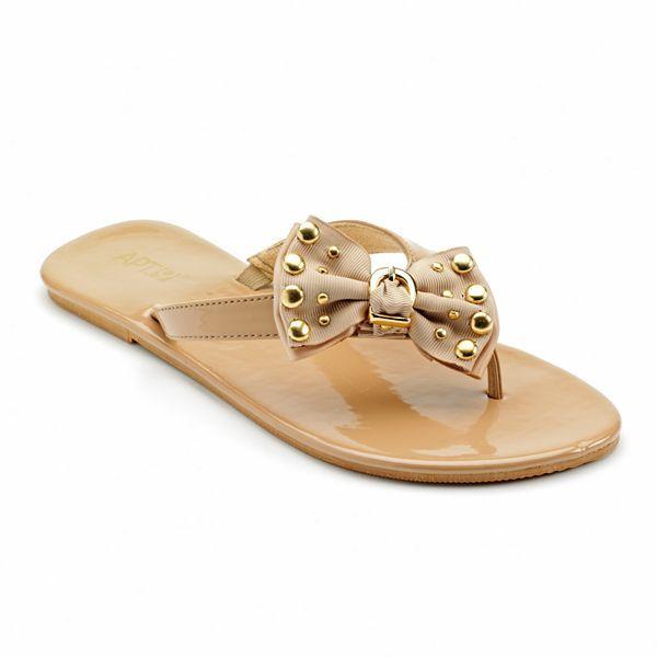 Apt. 9 studded bow flip-flops