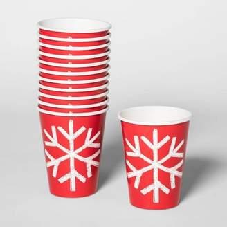 Wondershop 12oz/12ct Snowflake Disposable Paper Cups Red - WondershopTM