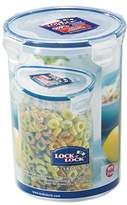 Lock & Lock Round Storage Container - Clear/Blue, 1.8 L