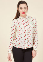 Sugarhill Boutique Picking Positivity Button-Up Top in 12 (UK)