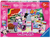 Disney Mickey & Minnie Beautiful Minnie 49-Piece Puzzle - Set of Three