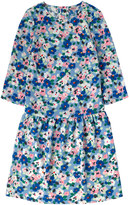 Cath Kidston Large Painted Pansies Dropped Waist Dress