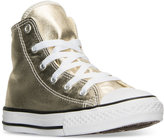 Converse Little Girls' Chuck Taylor All Star Hi Metallic Casual Sneakers from Finish Line