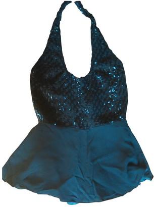Oleg Cassini Black Silk Top for Women Vintage