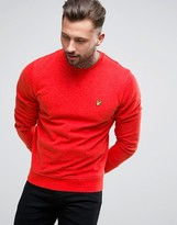 Lyle & Scott Crew Sweatshirt Eagle Logo in Red