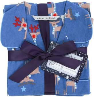 Jasmine Rose 2-Piece Reindeer-Print Pyjama Set
