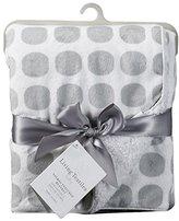 Living Textiles Velboa Mod Dot Blanket, Grey by
