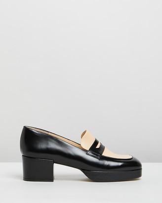 Jonak Verano Leather Block Heels
